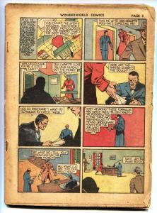 WONDERWORLD #8-THE FLAME-YARKO-DR. FUNG-1939 bargain copy