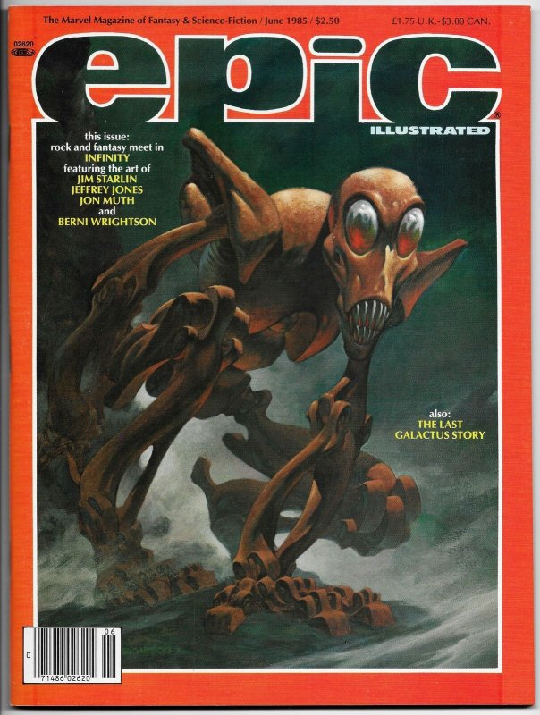 Epic Illustrated #30 Galactus | Bernie Wrightson Cvr (Marvel, 1985) VF