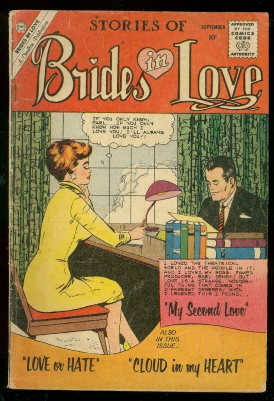 BRIDES IN LOVE #20 1960-CHARLTON ROMANCE-BOXING STORY VG