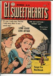 G.I. Sweethearts #36 1953-Quality-spicy romance-glossy cover VG+