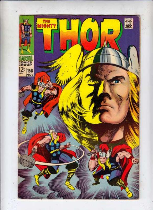 Thor, the Mighty #158 (Nov-68) FN/VF Mid-High-Grade Thor