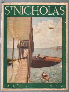 St Nicholas 6/1917-Norman Price aviation cover-WWI era story-ads-G