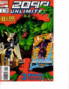 Lot Of 2 Marvel Comic Books 2099 Unlimited #4 and Thunder Strike #3  ON12