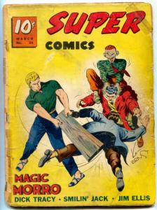 Super Comics #34 1941- Magic Morro cover- Jim Ellis- Dick Tracy FAIR
