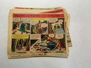 Flash Gordon Complete Year 1954  Tabloid Size Color Newspaper Sundays Missing 1