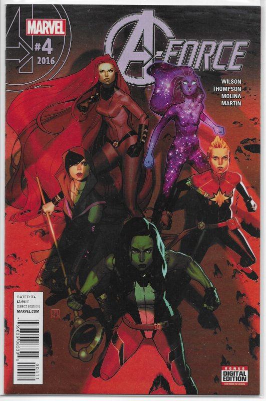 A-Force (vol. 2, 2016) #  4 NM Wilson/Thompson/Molina, Captain Marvel, Dazzler