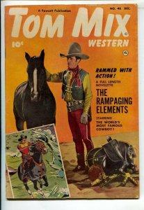 Tom Mix Western #48 1951-Fawcett-Photo cover-Carl Pfeufer story art-Rampagin...