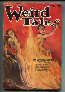 Weird Tales 2/1934-Robert E Howard-Margaret Brundage-Pulp Magazine