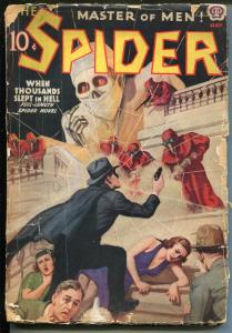 SPIDER 5/1938-POPULAR-SUPER HERO PULP-VIOLENT-fr