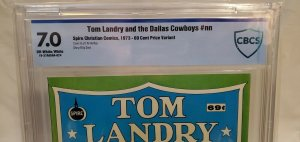 Tom Landry and the Dallas Cowboys - CBCS 7.0 - OW/W - .69 Cent Variant - RARE!