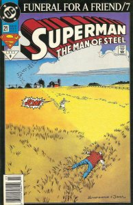 Superman: The Man of Steel #21 (Newsstand) FN; DC | save on shipping - details i