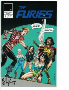 the Furies #5 VF signed by Bill Knapp - carbon-based comics 1997 - bad girls
