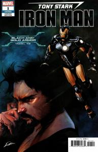 Tony Stark Iron Man #1 Black & Gold Armor Variant (Marvel, 2018) VF/NM