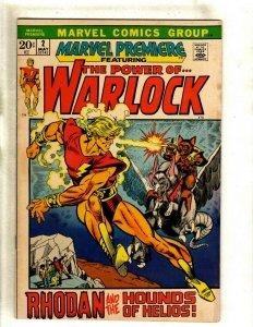 Marvel Premiere # 2 FN/VF Comic Book Feat. Warlock Power Of Rhodan Hounds He RS2