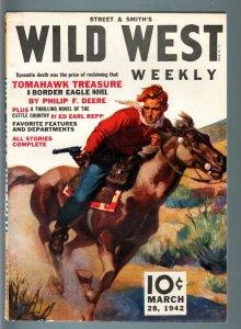 WILD WEST WEEKLY 3/28/1942-WESTERN PULP-STREET & SMITH VF