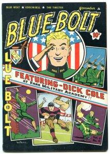 BLUE BOLT V.2 #6 1942-DICK COLE---SUB-ZERO ---TWISTER VF-