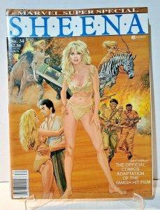 1984 SHEENA MARVEL SUPER SPECIAL #34 MOVIE ADAPTION