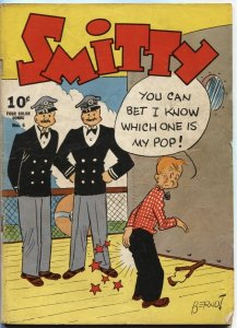 FOUR COLOR COMICS #6-1942-SMITTY BY BRENDT-NEWSPAPER COMIC STRIP-DELL