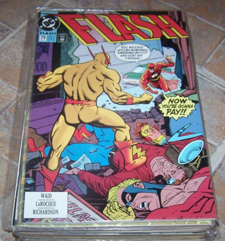 FLASH # 79 AUG 1993  dc comics  cw tv show  WALLY WEST  REVERSE FLASH