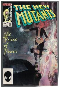 NEW MUTANTS 25 FN-  1ST APPEARENCE OF LEGION-CAMEO