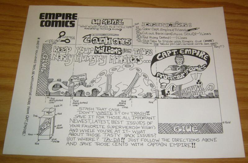 Captain Empire: Protector of Comics - empire comics - very cool coin wrapper