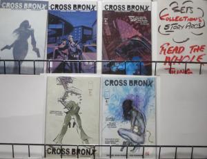 CROSS BRONX #1a,1b,2-4 (Image,2006) COMPLETE! VF-NM Oeming/Brandon action/noir