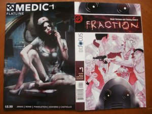 2 Comic: Double Take MEDIC #1 Flatline (2015) & DC Focus FRACTION #1 (2004)