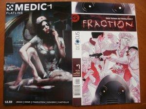 2 Comic: Double Take MEDIC #1 Flatline (2015) & DC Focus FRACTION #1 (2004)