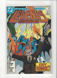 LEGENDS #4 2ND SUICIDE SQUAD BYRNE ART COPPER AGE COMIC  NM Nice Copy