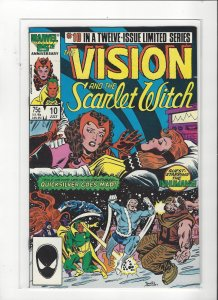 Vision and the Scarlet Witch (1985 series) #10 of 12  VF/NM Marvel Comics