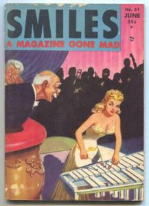 Smiles #31 June 1949- Spicy Jokes Gags & Good Girl art