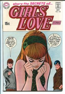 Girls' Love Stories #146 1969-DC-love triangle cover-FN+