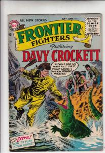 Daniel Boone, Frontier Scout #5 (May-56) FN+ Mid-High-Grade Davy Crockett