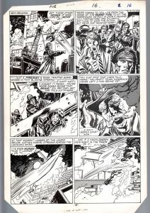 AVENGERS #267 PG 12-ORIGINAL ART-JOHN BUSCEMA-CAPTAIN MARVEL-FIREFIGHTER-NOLA