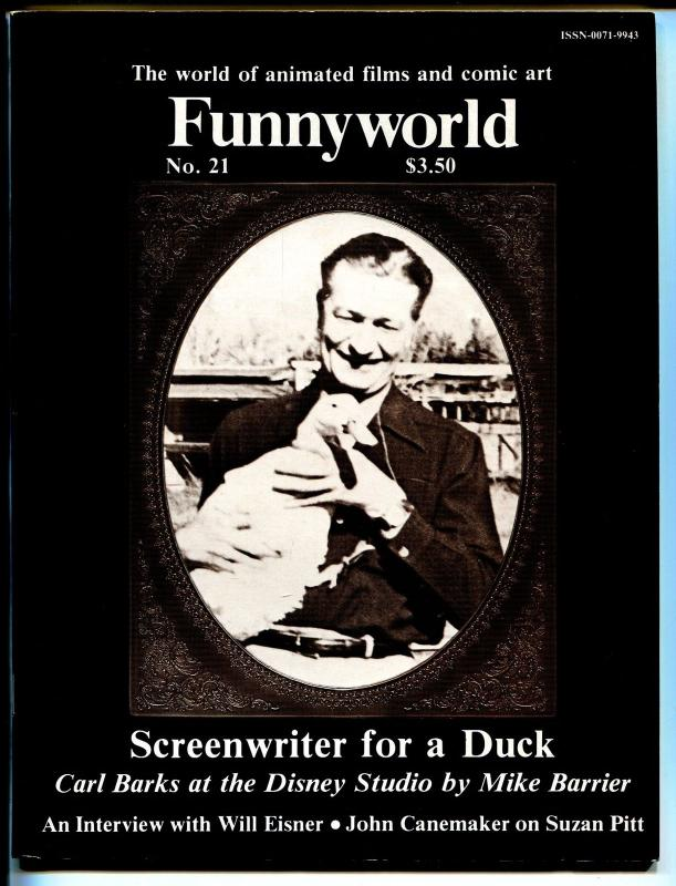 Funnyworld #21 1979-Carl Barks photo cover-Will Eisner-Disney Studios-VF