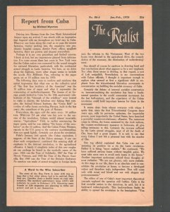 Realist #86-A 5/1970-Paul Krassner Counter culture mag-Underground comix type-FN