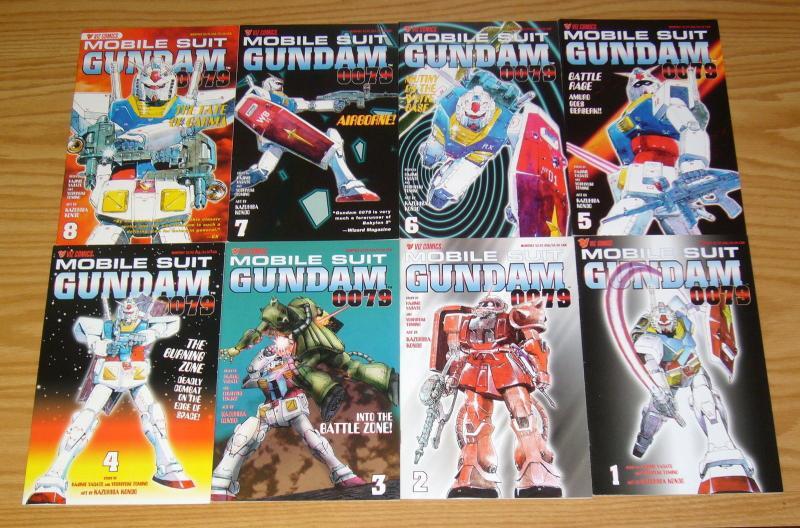Mobile Suit Gundam 0079 #1-8 VF/NM complete series - viz comics manga set lot