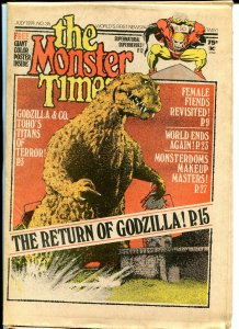 The Monster Times #35 Horror Newspaper 1974 Return of Godzilla Female Fiends