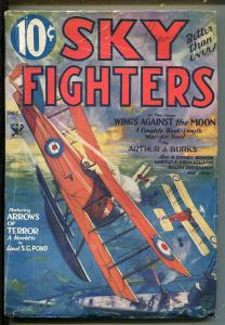 SKY FIGHTERS 12/1933-AIR WAR PULPS-WWI-CLASSIC-RARE-vg