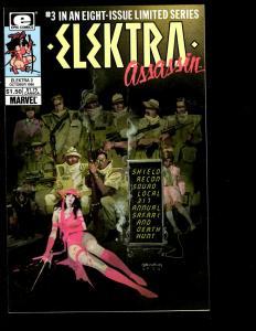 Lot of 8 Elecktra Assassin Marvel Comic Books # 1 2 3 4 5 6 7 8 Daredevil JF10
