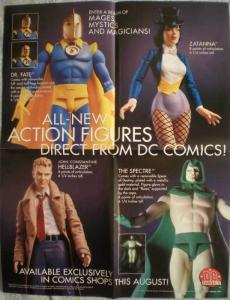 DC DIRECT ACTION FIGURES Promo poster, 17x22, Unused, more Promos in store