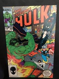 The Incredible Hulk #300 (1984)  Super-high-grade black Spidey, avengers key  NM