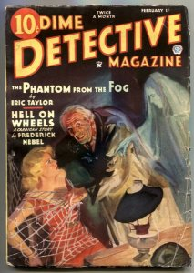 DIME DETECTIVE-FEB 1935-WEIRD MENACE BONDAGE COVER BY WALTER BAUMHOFER