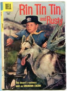 Rin Tin Tin and Rusty #19 1957-Dell-photo cover- German Shepherd G-