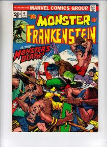 Frankenstein, the Monster of #4 (Jul-73) VF+   Frankenstein