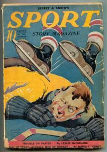 Sport Story Pulp 1st January 1939- wild hockey cover!