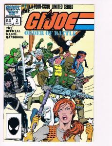 G.I. Joe Order Of Battle # 2 Marvel Comic Books Snake Eyes Cobra Destro WOW! S48