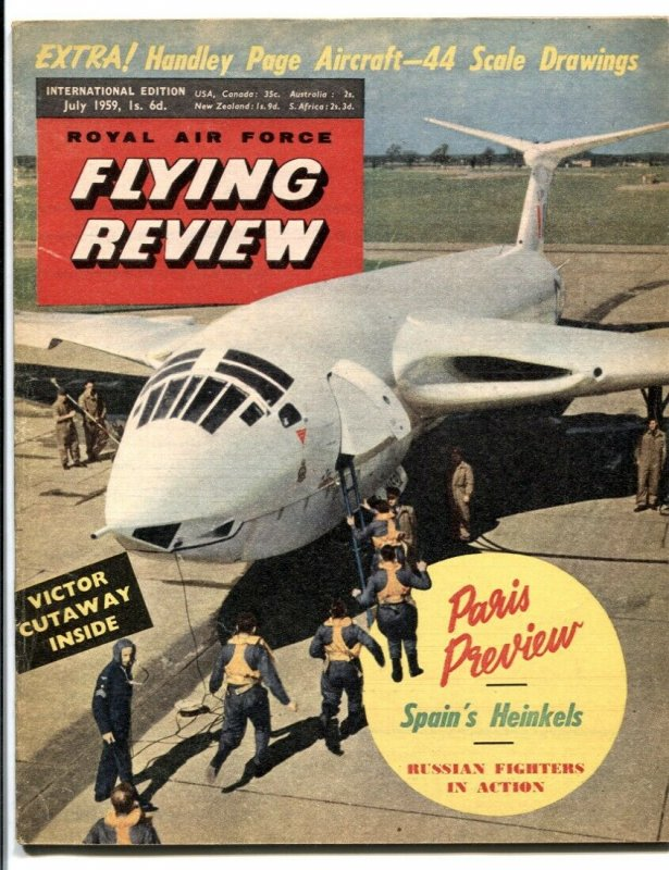 Royal Air Force Flying Review July 1959- Paris Preview