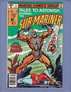 Tales To Astonish #5 VG Namor Sub-Mariner Marvel 1980