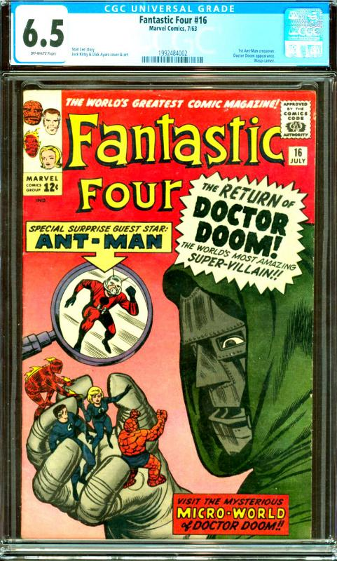 Fantastic Four #16 CGC Graded 6.5 1st Ant-Man Crossover; Doctor Doom